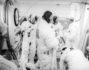 Apollo 11 Astronauts Leave Spacecraft After Countdown Demonstration Test