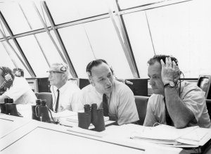 James and Pigell Converse During Apollo 11 Countdown Demonstration Test