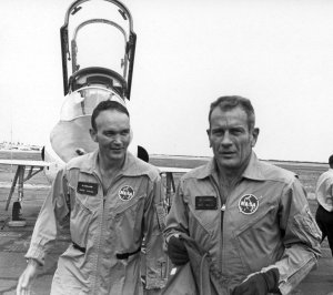 Apollo 11 Astronaut Michael Collins Prepares for Weightless Conditions