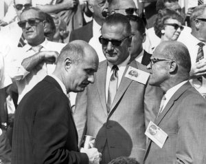 Stafford and Siepert Talk With U.S. Vice-President Spiro T. Agnew