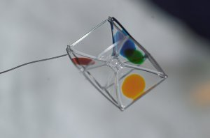 Wire Frame Holds Water-Soap Film in Space