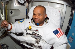 Astronaut Curbeam in Quest Airlock