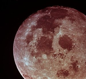 Moon after trans earth injection - Apollo 11