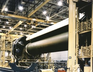Saturn IB S-IB Stage Assembly at Michoud Assembly Facility (MAF)