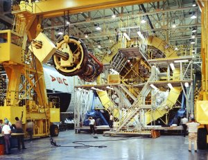 F-1 Engine Installation at the Michoud Assembly Facility