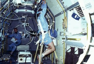 Spacelab-1 Mission Onboard Photograph-Vestibular Experiment in Space