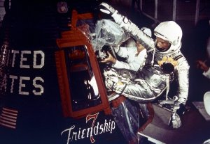Astronaut John Glenn Enters Friendship 7