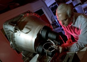 Dr. Gerald Fishman Working on the Burst and Transient Source Experiment (BATSE)