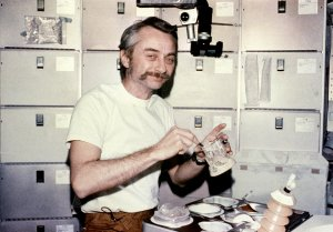 Skylab-3 Mission Onboard Photograph - Meal Time
