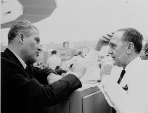Dr. von Braun and Dr. Debus During the SA-9 Launch