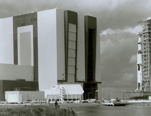 Apollo 6 Transported to Launch Pad at KSC