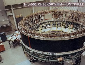 Saturn V Instrument Unit Being Checked At MSFC