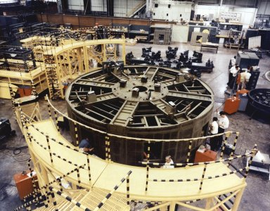 Saturn IB S-IB Stage Thrust Structure Assembly at Michoud Assembly Facility (MAF)