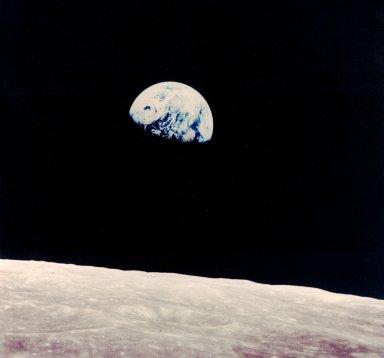 Earth Above the Lunar Horizon