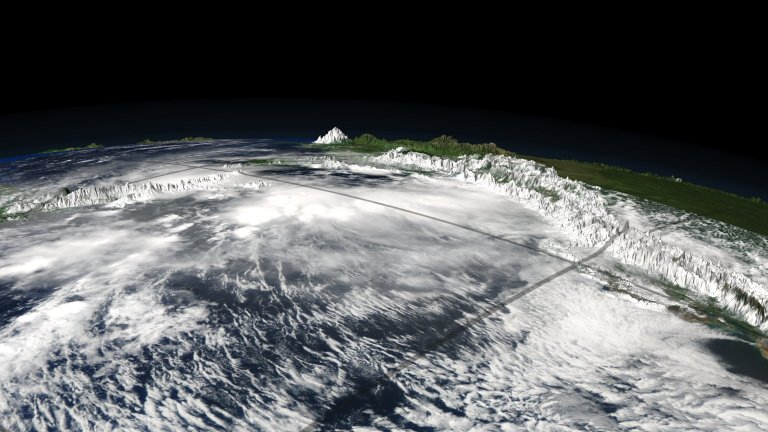 CloudSat, Calipso and MODIS over Central America