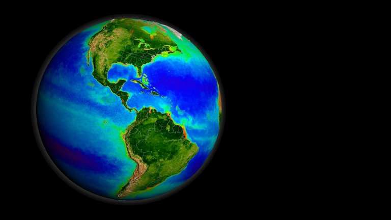 SeaWiFS Biosphere Data over the North Pacific