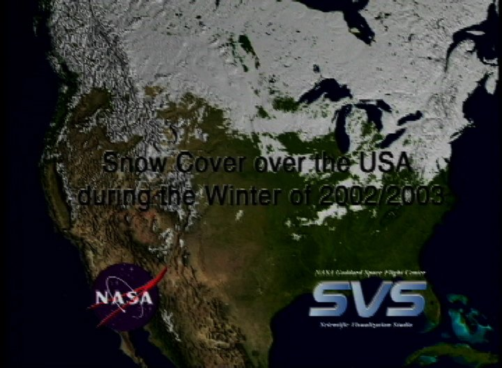 Snow Cover over the USA during the Winter of 2002/2003