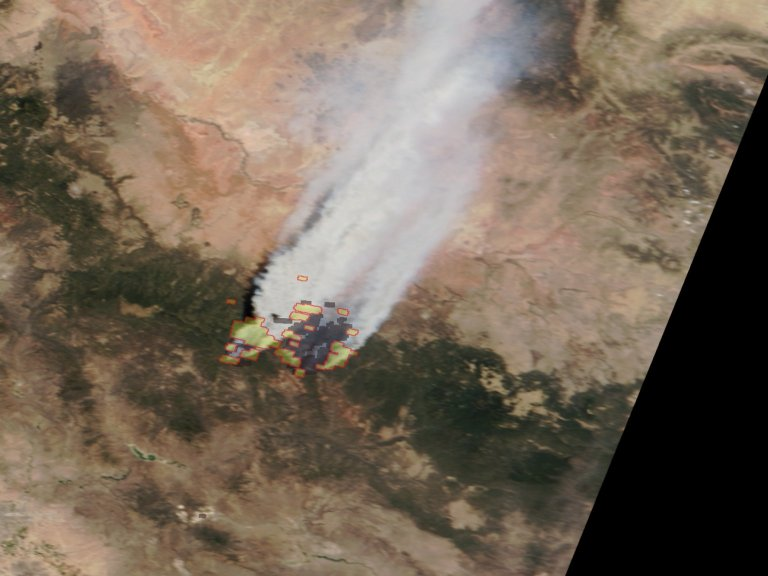 Time Sequence of Arizona Fires