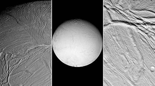 Saturn's Moons Titan and Enceledas