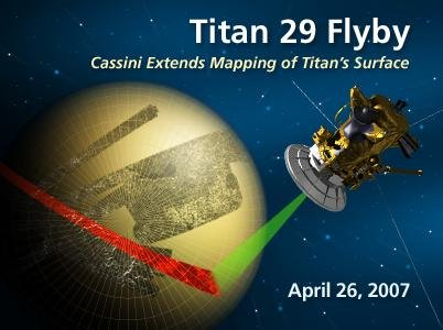 Cassini Extends Mapping of Titan's Surface