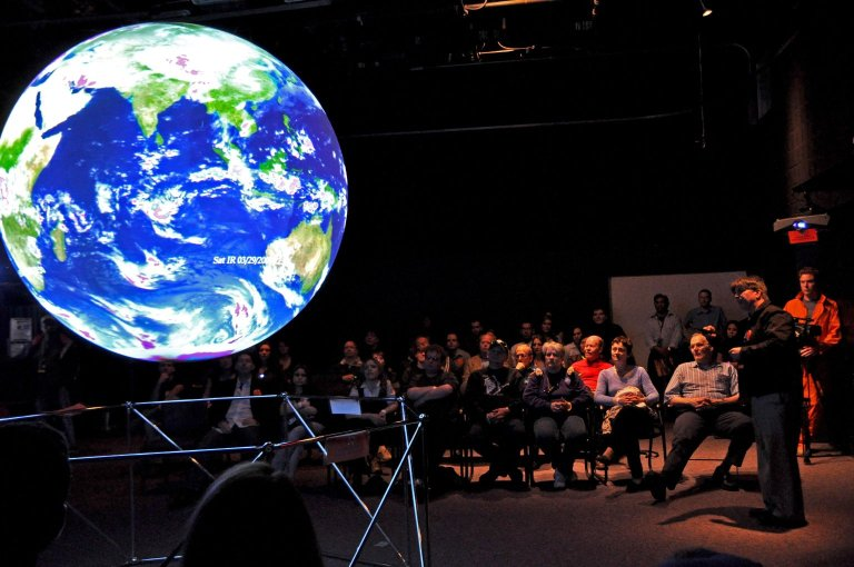Dr. Garvin Presents 'Science On a Sphere'