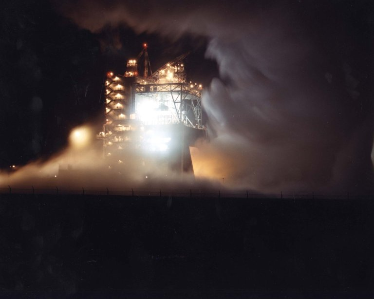 A-1 Test Stand at Night