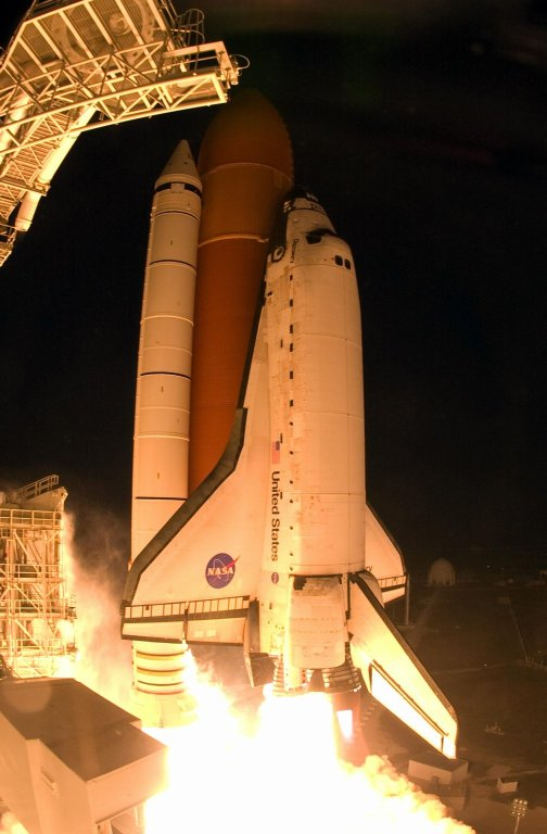 Discovery Leaves Launch Pad