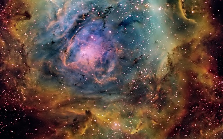The Busy Center of the Lagoon Nebula