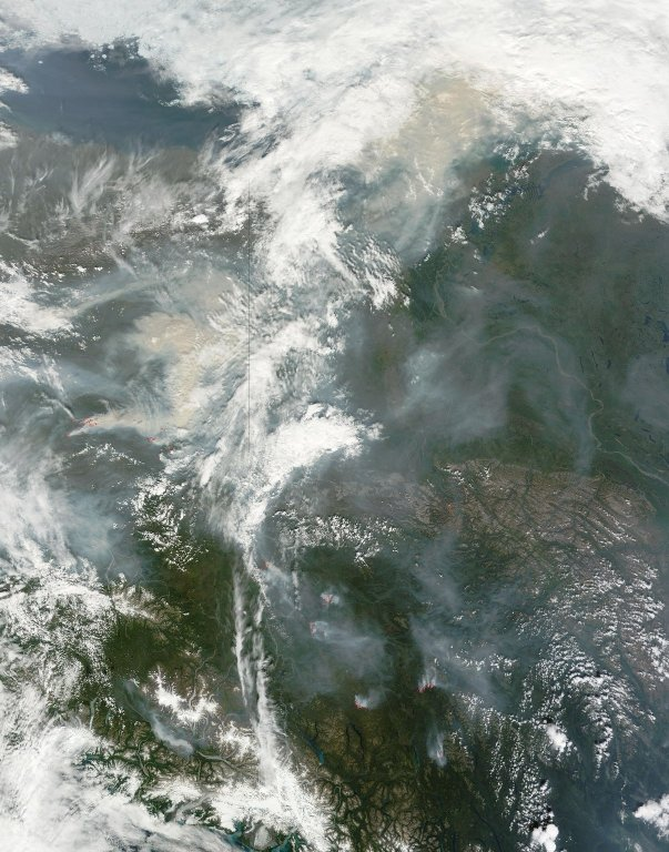 Wildfires in Alaska's Yukon Flats Wildlife Refuge
