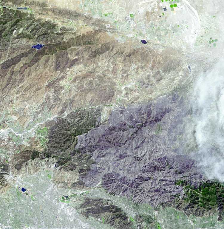 Extent of Station Fire Burn