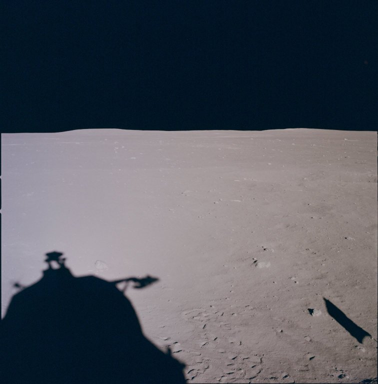 Apollo 11 Mission image - Lunar horizon from Tranquility Base