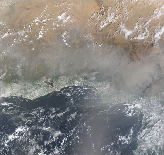 Dust and Smoke Over West Africa