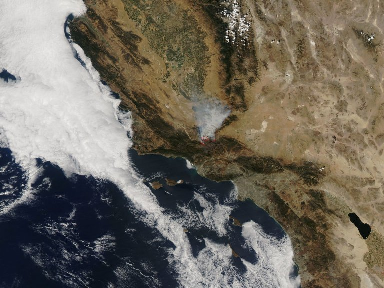 Day Fire in Southern California