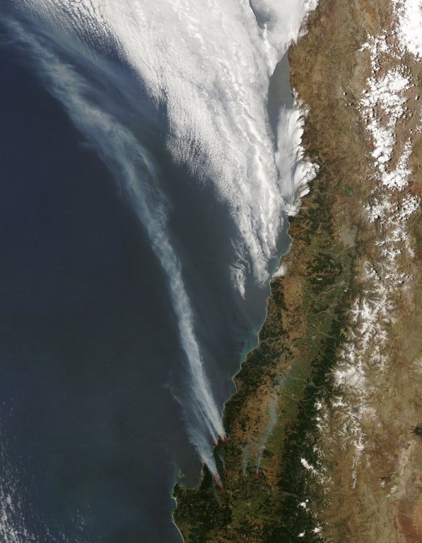 Fires North of Concepcion, Chile