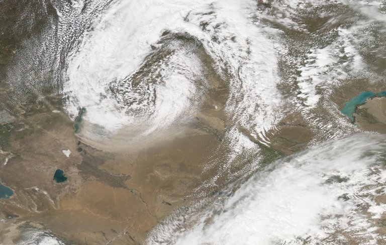 Dust Storm in Central Asia