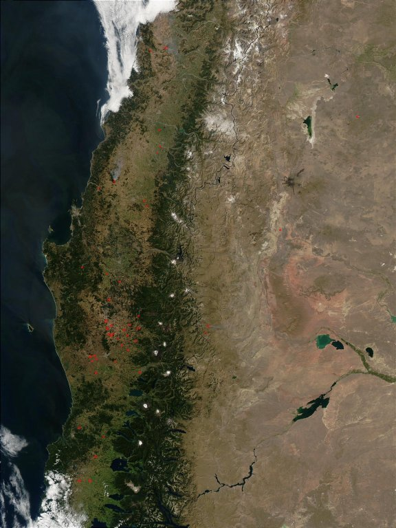 Fires in Central Chile