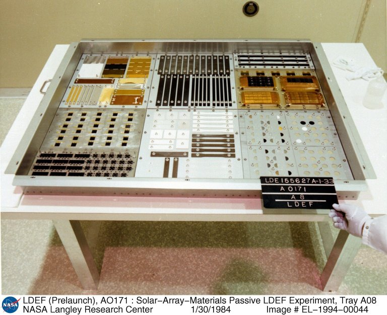LDEF (Prelaunch), AO171 : Solar-Array-Materials Passive LDEF Experiment, Tray A08