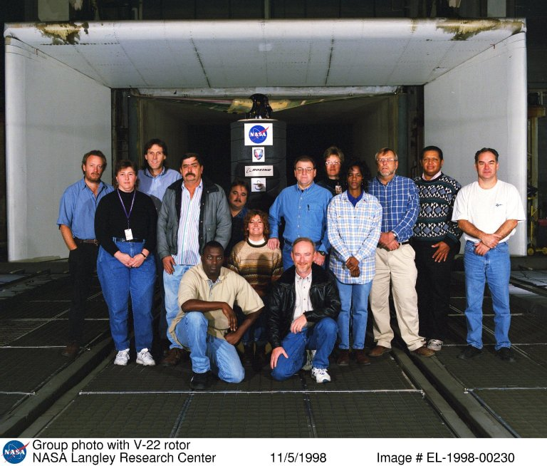 Group photo with V-22 rotor