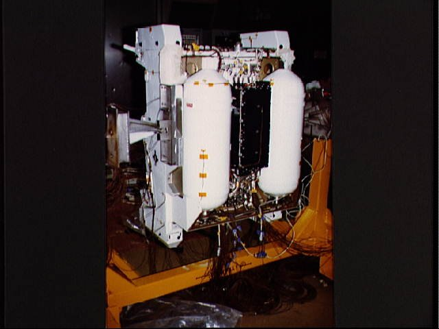 Aft view of MMU during qualification test in vacuum chamber