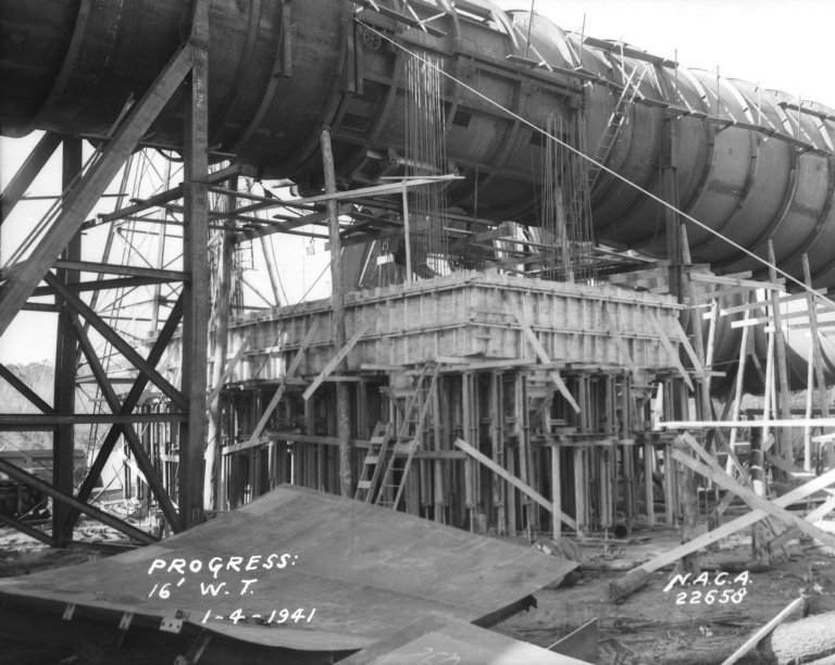 Construction of the 16-Foot High Speed Tunnel