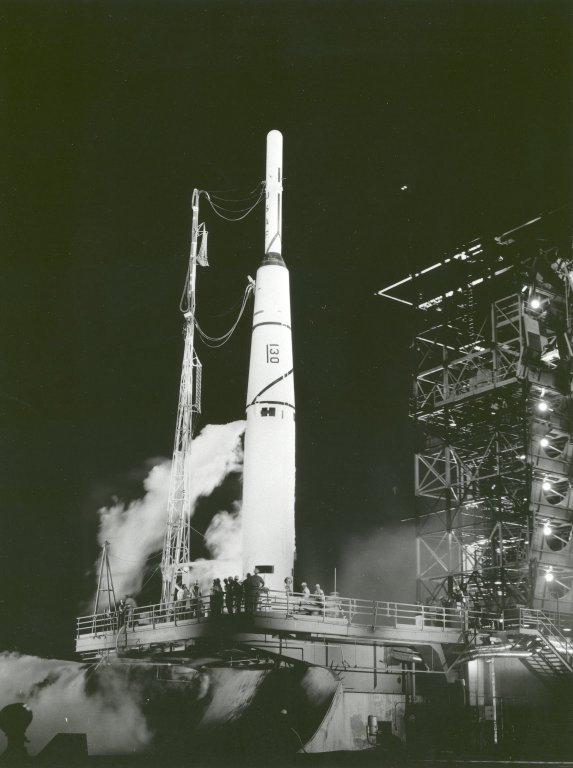 Pioneer I on the Launch Pad