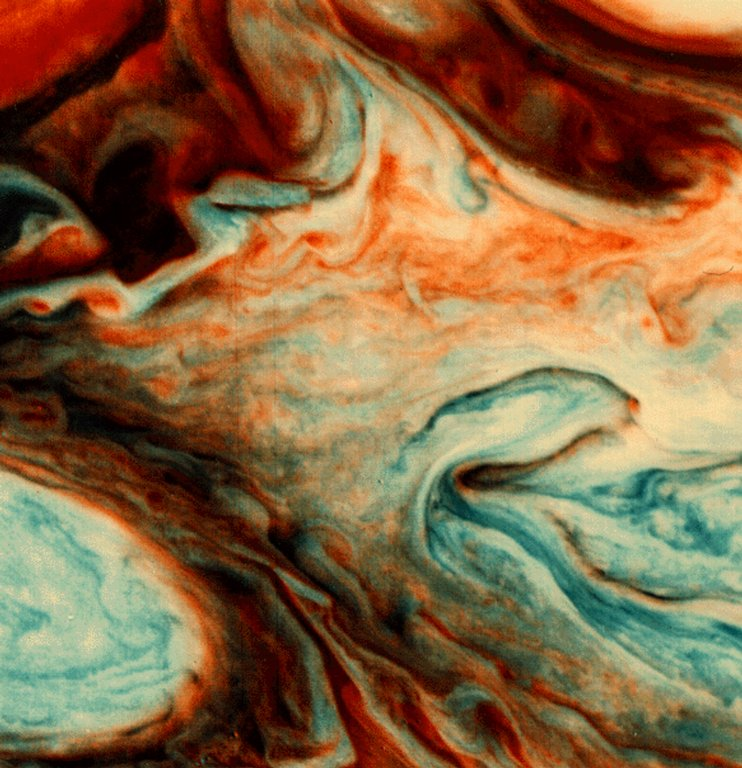 Southeast of the Great Red Spot on Jupiter