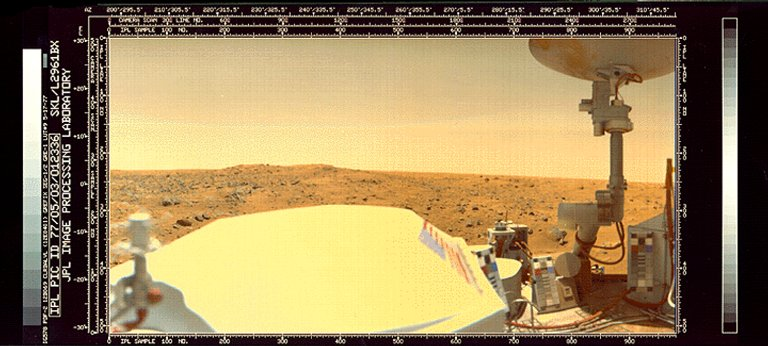 Color view of Chryse Planitia by the Viking 1 Lander