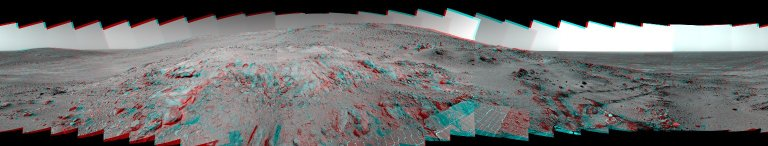 Spirit's 'Lookout Panorama' in 3-D
