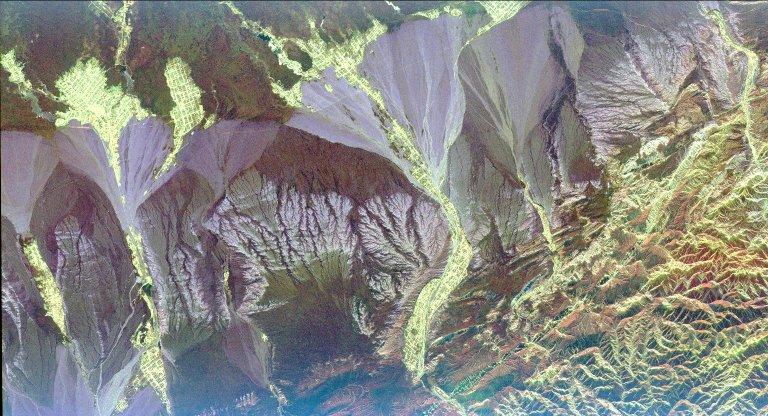 Space Radar Image of Pishan, China
