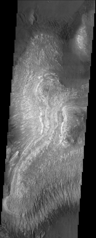 Layered Deposits on the floor of Ganges Chasma