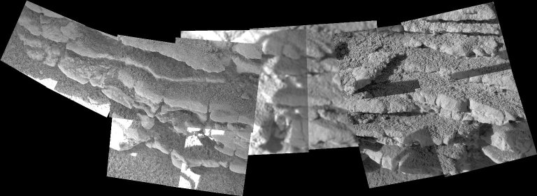 Layered Outcrops in Gusev Crater