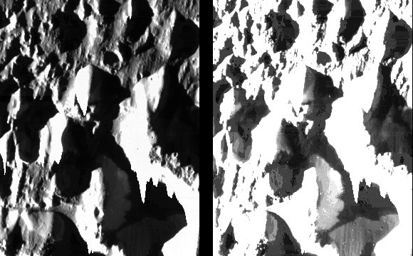 Fine Details of the Icy Surface of Ganymede