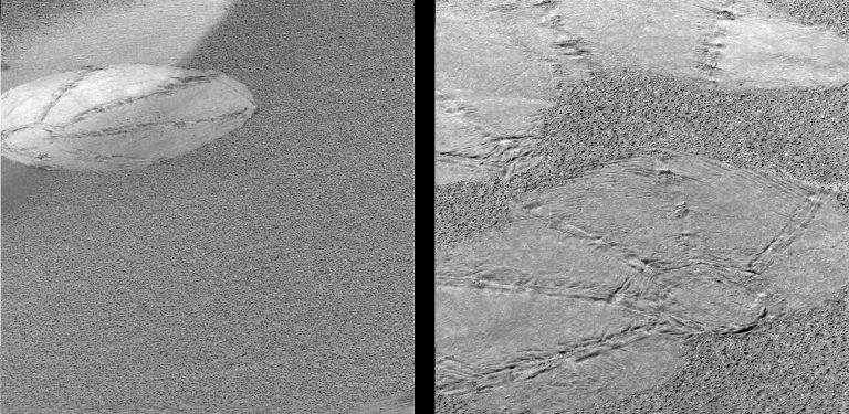 Airbag Tracks on Mars