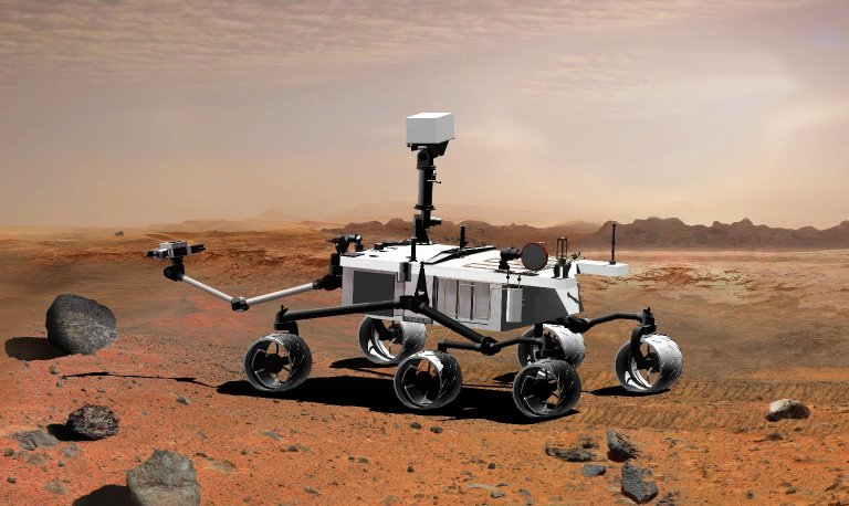 Mars Science Laboratory with Arm Extended, Artist's Concept